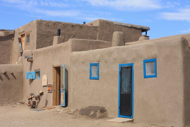 Povoado indígeno de Taos foto de stock