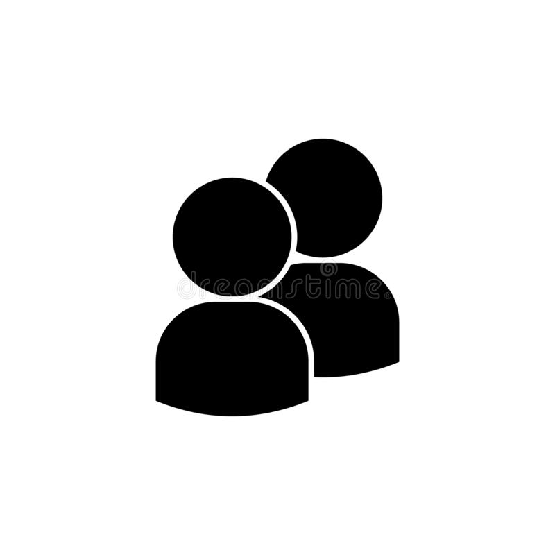 povos, ícone de dois avatars Elemento de um ícone de grupo de pessoas Ícone superior do projeto gráfico da qualidade sinais e col ilustração royalty free