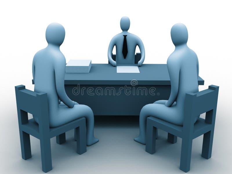 povos 3d em um escritório ilustração stock