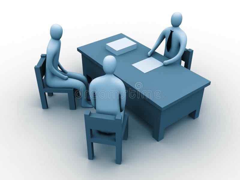 povos 3d em um escritório ilustração do vetor