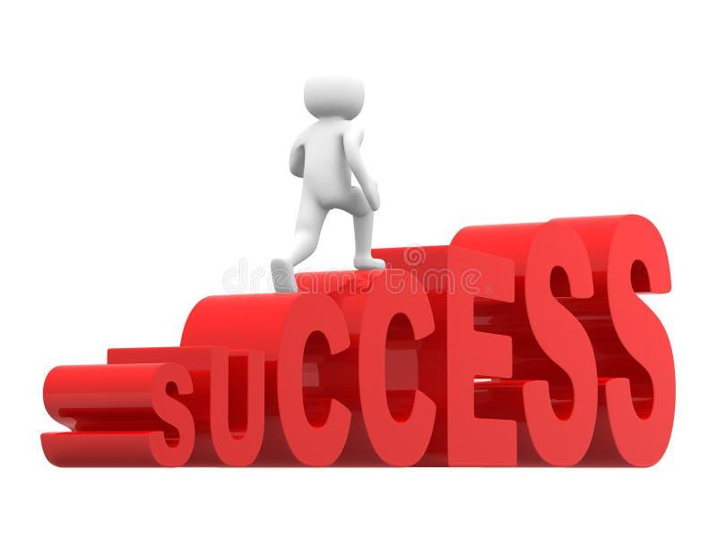 povos 3d na escada do sucesso ilustração royalty free