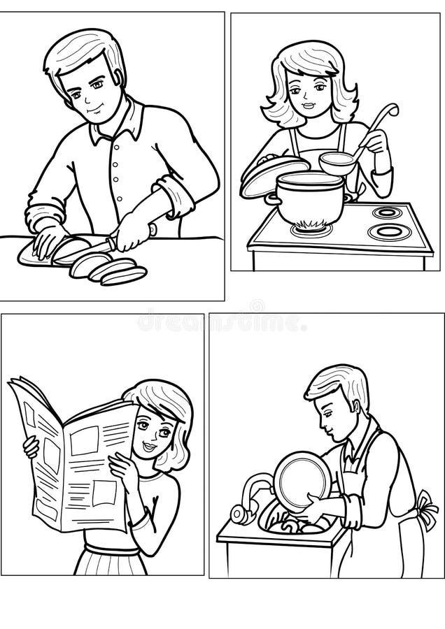 Povos ilustração stock