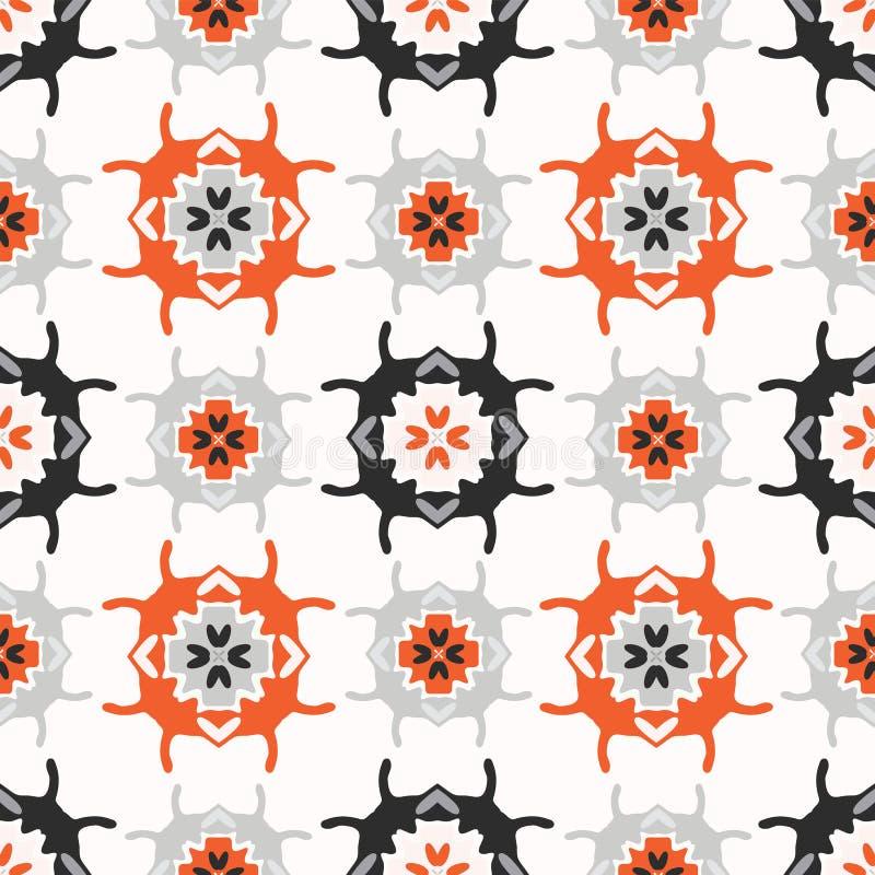 Povos abstratos Art Grid Orange de Geo e branco ilustração royalty free