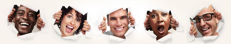 Povos alegres felizes fotografia de stock