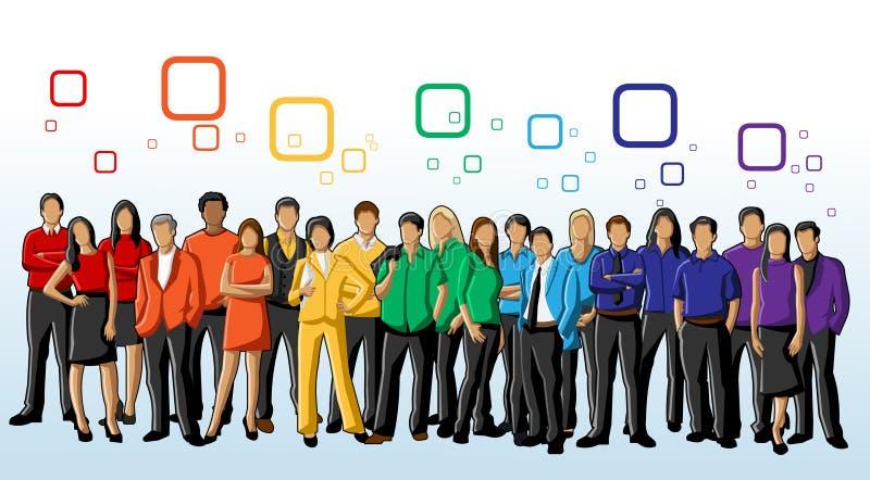 Povos coloridos ilustração stock