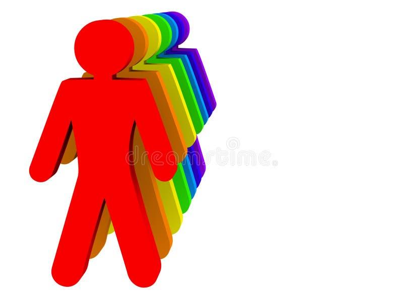 Povos coloridos da diversidade   ilustração do vetor