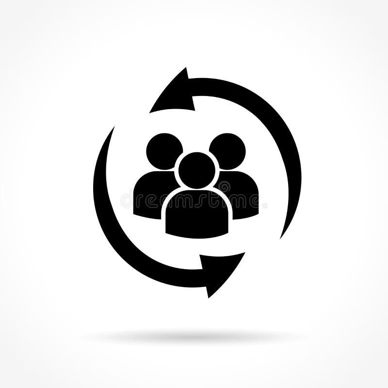 Povos com ícone das setas ilustração royalty free