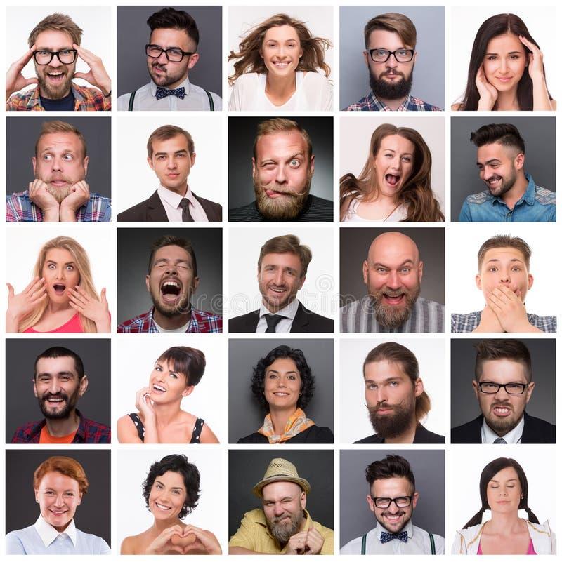 Povos com emoções diferentes imagem de stock royalty free