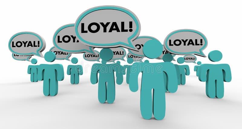 Povos 3d Illustra da bolha de Loyal Return Customers Audience Speech ilustração royalty free
