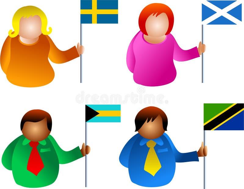 Povos da bandeira ilustração do vetor