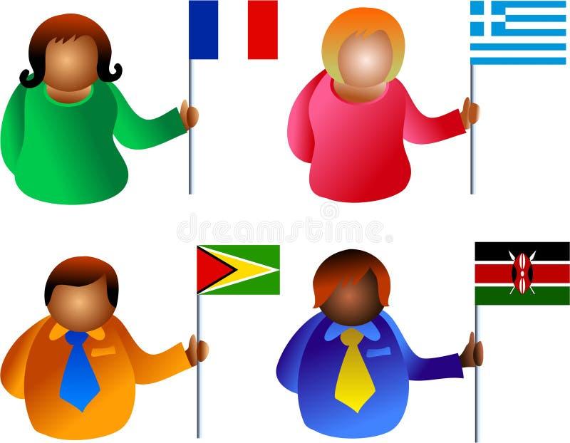 Povos da bandeira ilustração royalty free