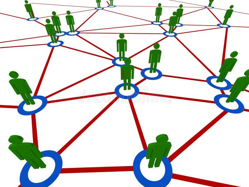 Povos da conexão ilustração royalty free