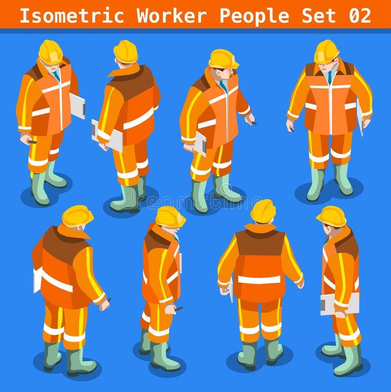 Povos da construção 02 isométricos ilustração royalty free