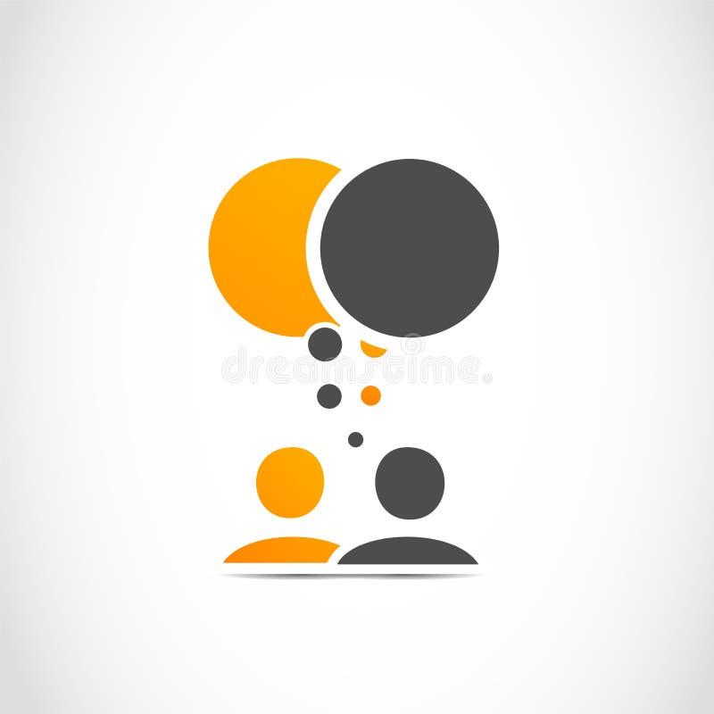 Povos da conversação ilustração stock