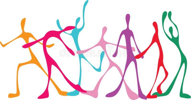 Povos da dança ilustração royalty free