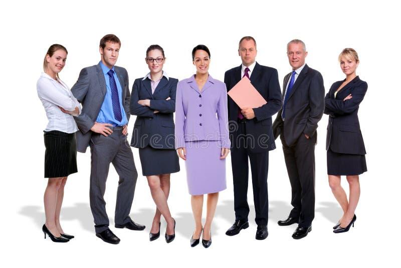 Povos da equipe sete do negócio isolados imagens de stock royalty free