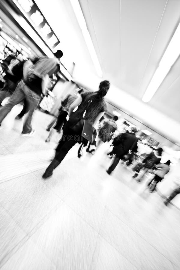 Povos Da Estação Do Metro No Movimento Foto de Stock Royalty Free