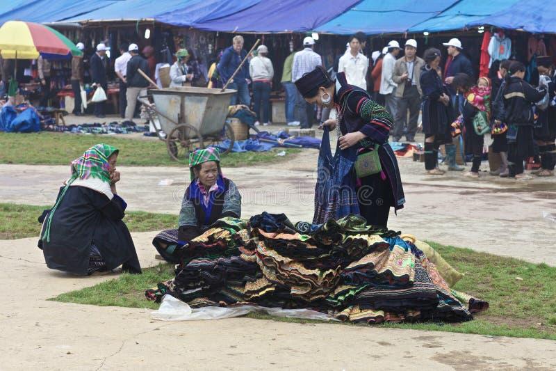 Povos da minoria de H'Mong Ehtnic de Vietnam fotos de stock royalty free