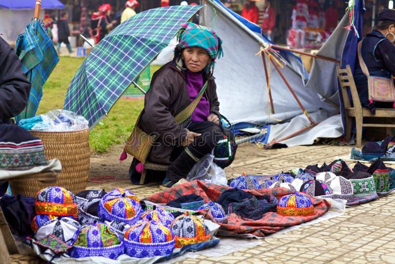 Povos da minoria de H'Mong Ehtnic de Vietnam fotografia de stock royalty free