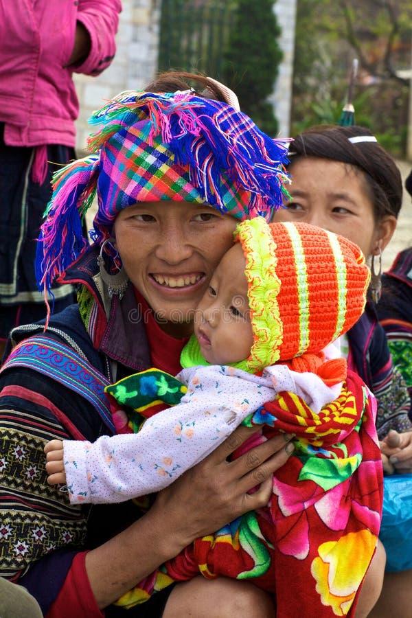Povos da minoria de H'Mong Ehtnic de Vietnam imagens de stock
