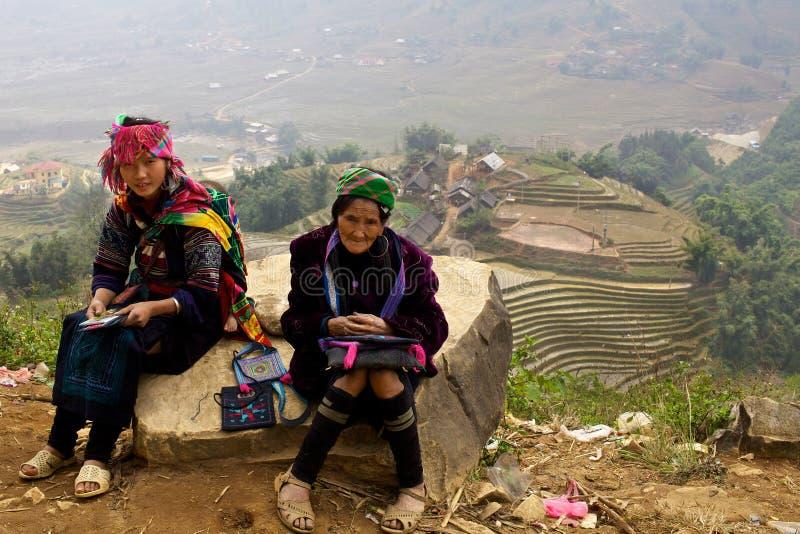 Povos da minoria de H'Mong Ehtnic de Vietnam fotos de stock