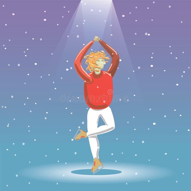 Povos da patinagem no gelo ilustração royalty free