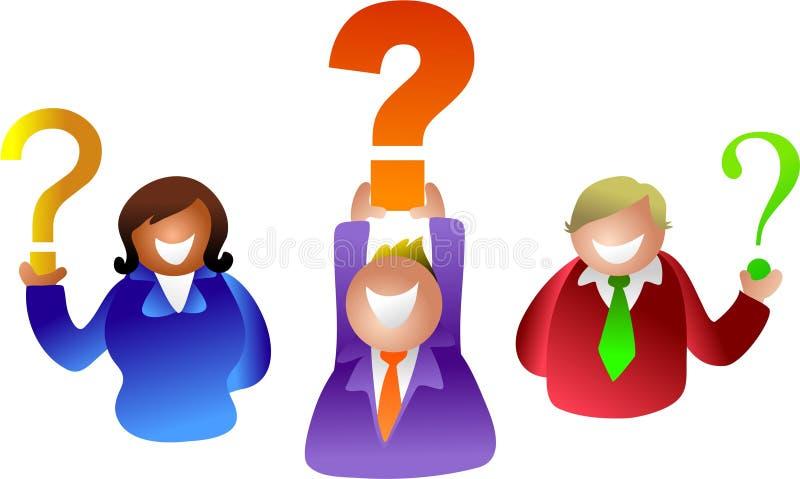 Povos da pergunta ilustração royalty free