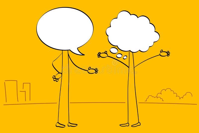 Povos de conversa ilustração stock