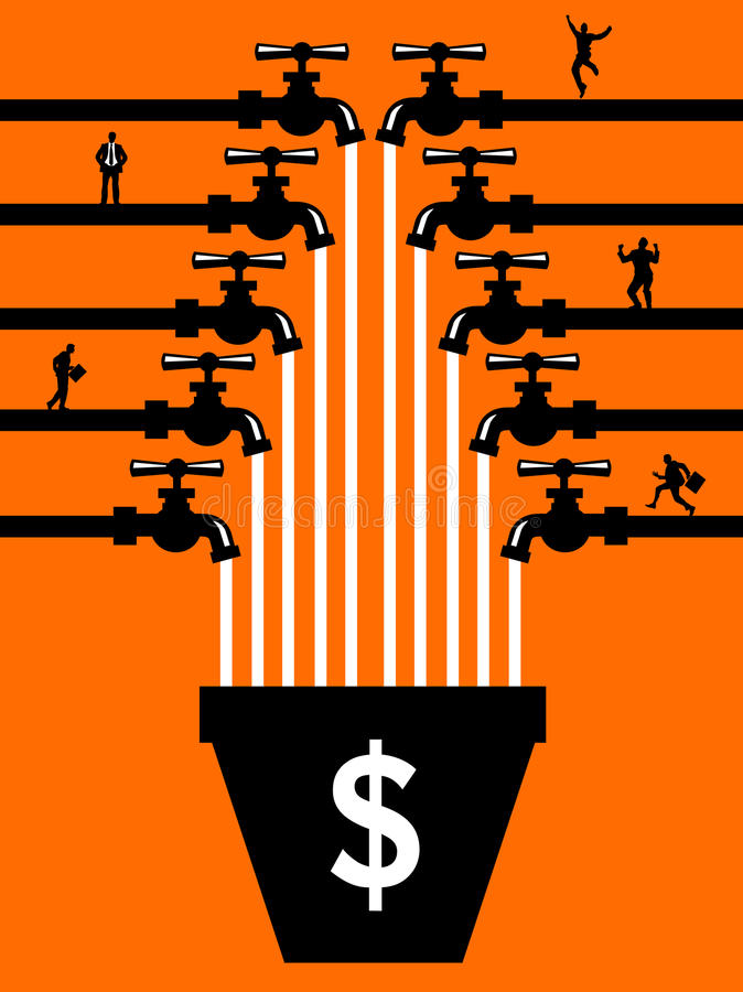 Povos de Crowdfunding ilustração do vetor