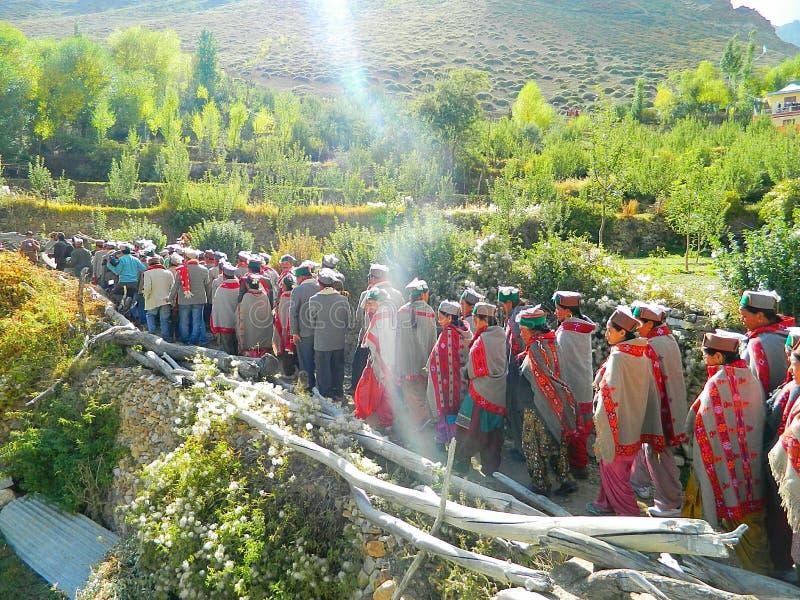 Povos de Himalaia norte fotografia de stock