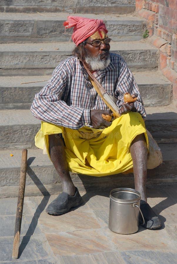 Povos de Kathmandu-Nepal imagens de stock royalty free