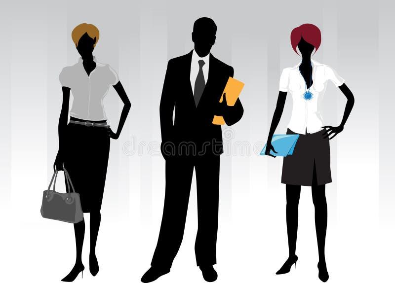 Povos de negócio ilustração royalty free