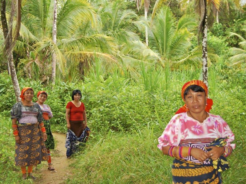 Povos de Panamá fotografia de stock