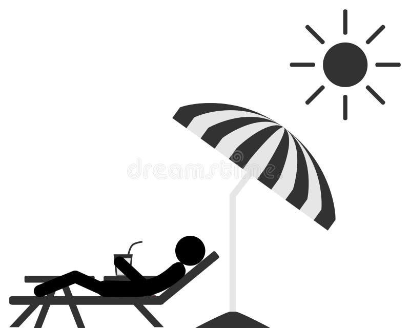 Povos de relaxamento no vadio do sol ilustração royalty free
