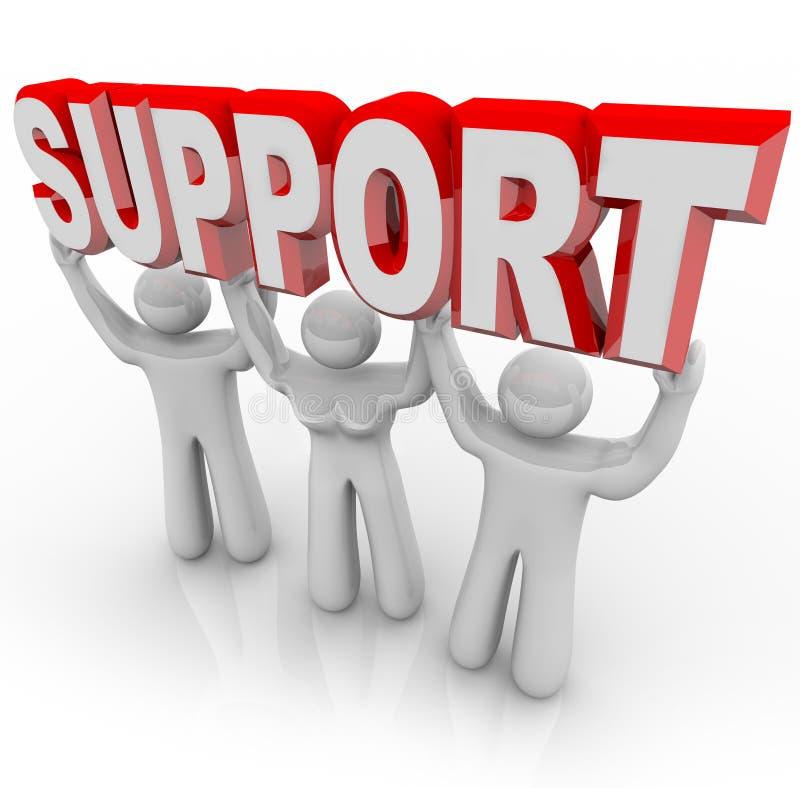 Povos do apoio que levantam sua carga em épocas difíceis ilustração do vetor