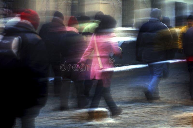Povos do blure do movimento fotografia de stock