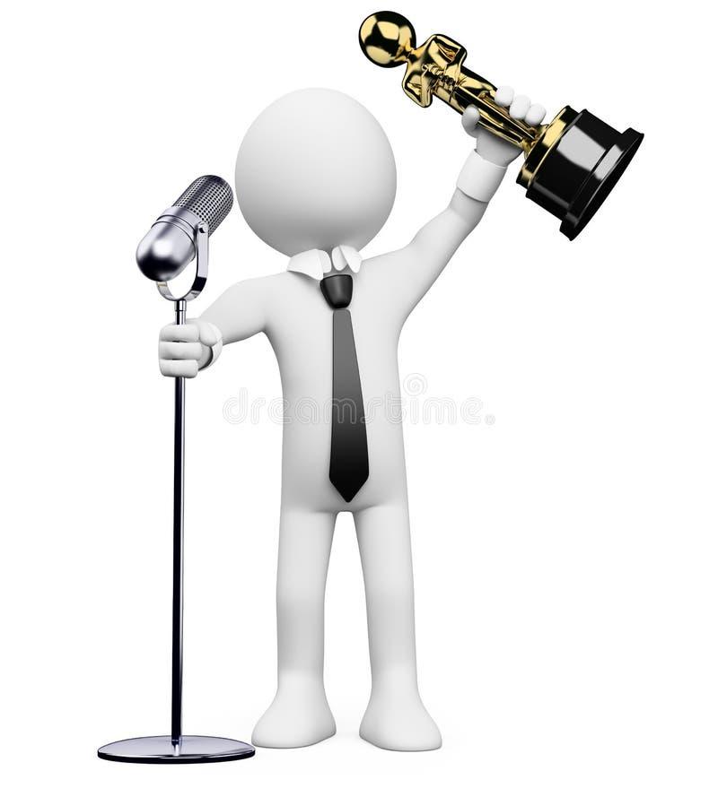 povos do branco 3d. Oscar ilustração royalty free