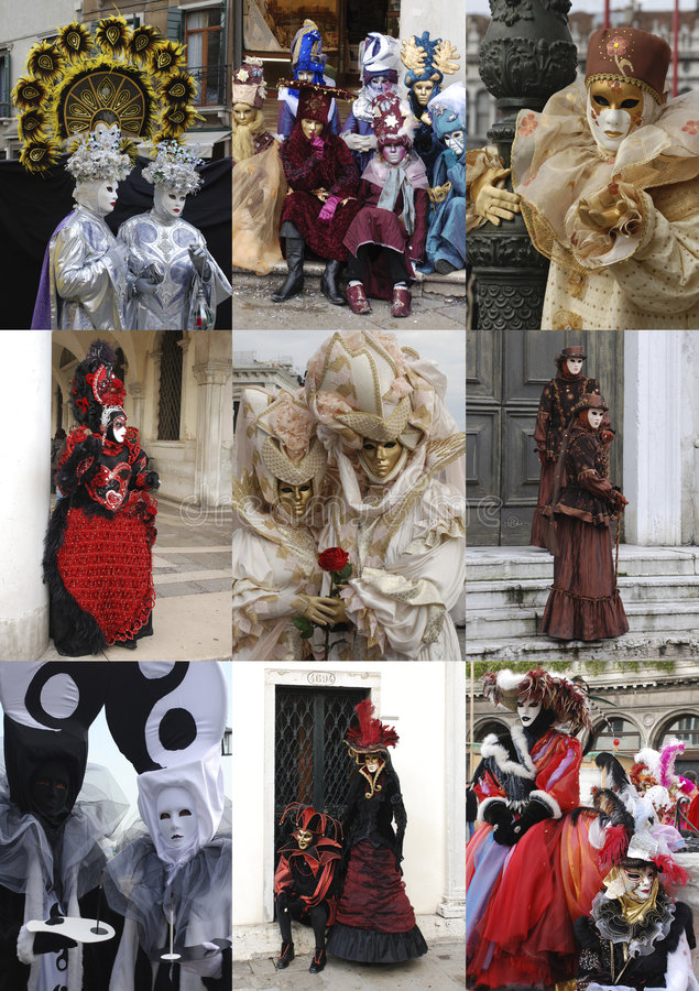 Povos do carnaval de Veneza foto de stock royalty free