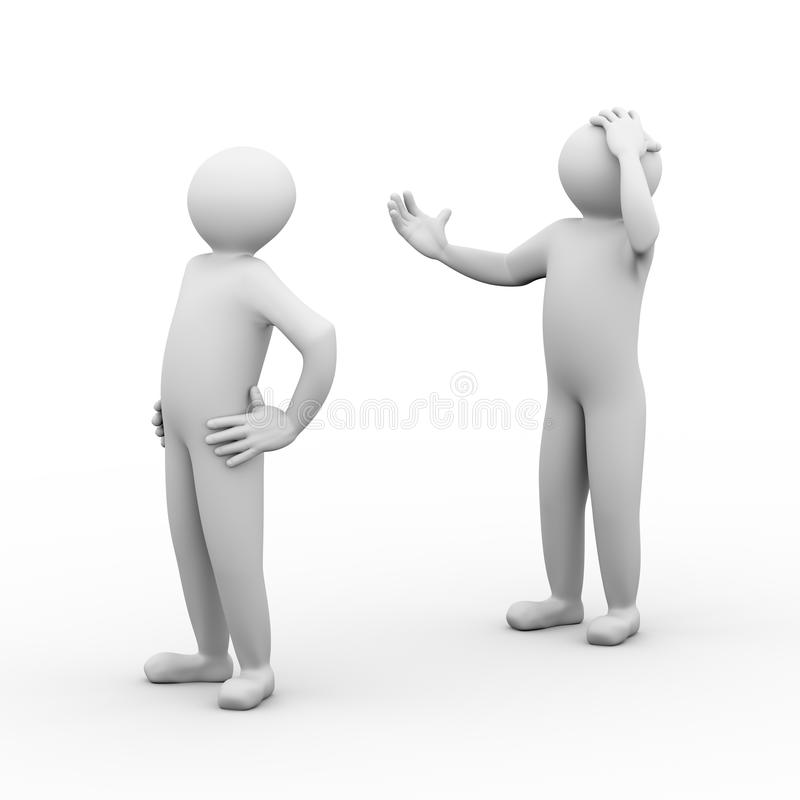 povos do conflito 3d ilustração royalty free