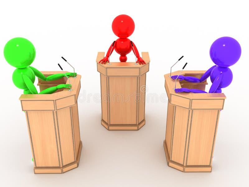 Povos do debate nos suportes #4 ilustração stock