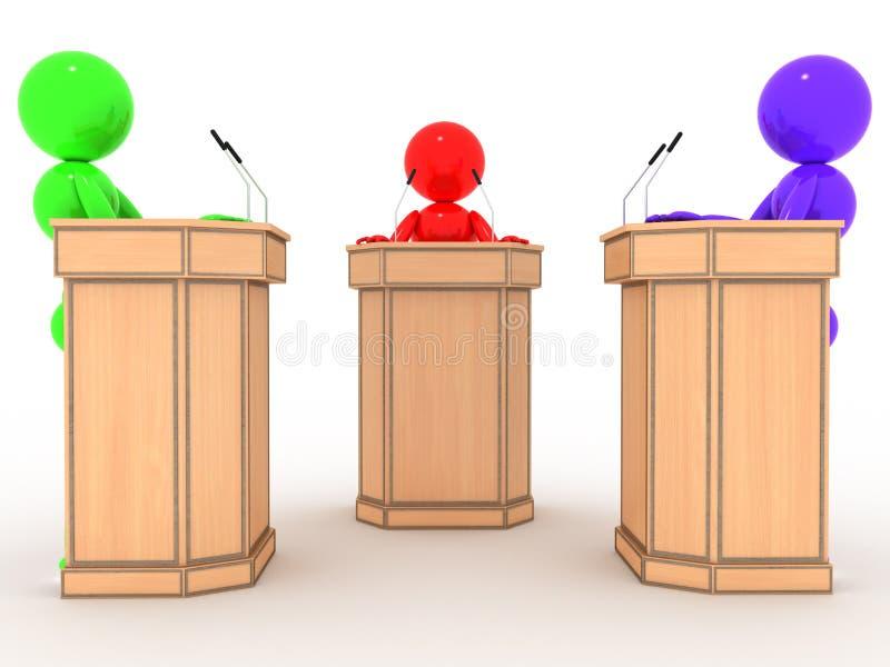 Povos do debate nos suportes #5 ilustração do vetor