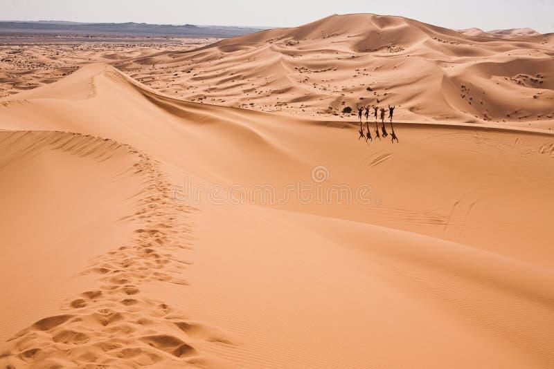 Povos do deserto no ataque imagem de stock