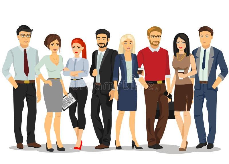 Povos do escritório Executivos dos homens e as mulheres com originais O pessoa no negócio formal veste ternos Vetor ilustração do vetor
