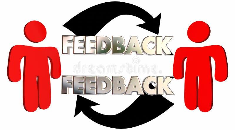 Povos do feedback que falam compartilhando de comentários das opiniões ilustração royalty free