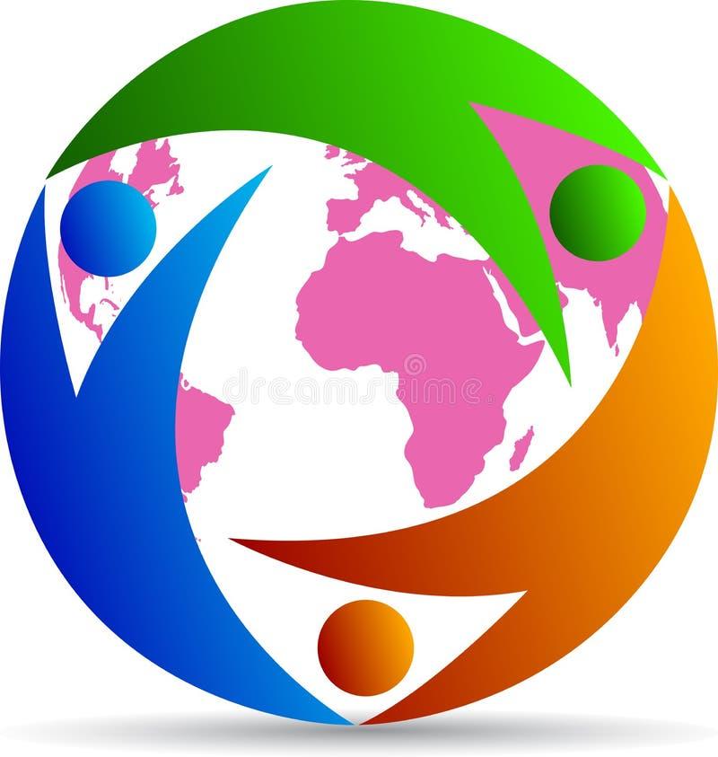 Povos do globo ilustração royalty free