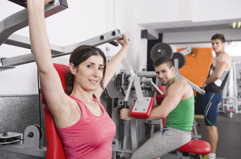 Povos do GyM imagem de stock royalty free