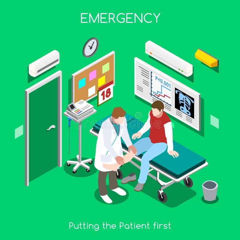 Povos do hospital 05 isométricos ilustração royalty free