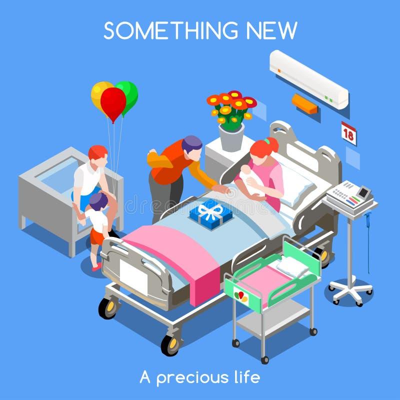 Povos do hospital 12 isométricos ilustração do vetor