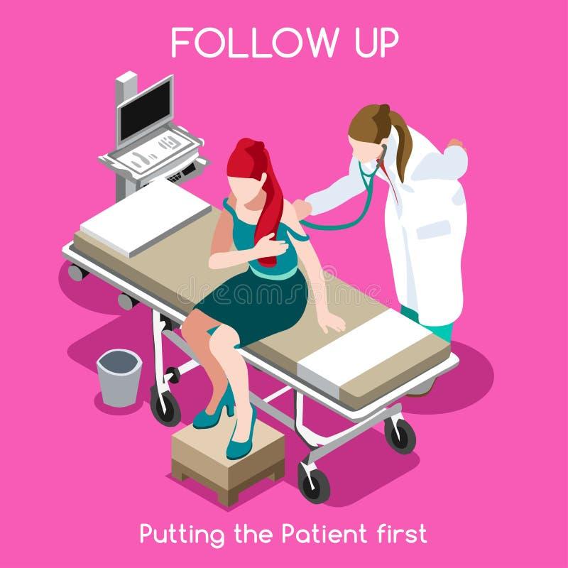 Povos do hospital 16 isométricos ilustração do vetor