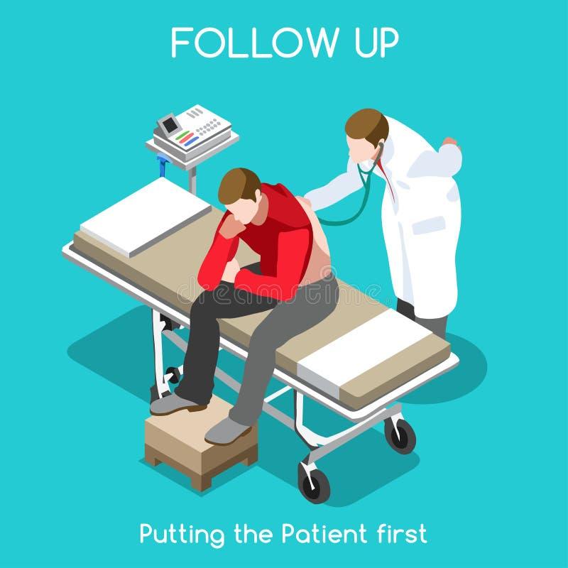 Povos do hospital 15 isométricos ilustração royalty free